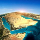 Arabia Saudyjska 3d mapa obrazy royalty free