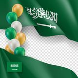 Arabia Saudyjska patriotyczny sztandar z przestrzenią dla teksta royalty ilustracja