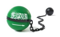 Arabia Saudyjska wiązał łańcuch i Balowy ilustracja wektor