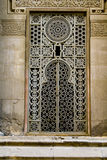 Arabia Window - Islamic Architecture. Large window with lots of work and artistic details, located in one of the old mosques in Cairo Egypt Royalty Free Stock Photo