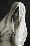 Arabian. Arabian - mystery woman. Classical monochrome photography Stock Photo