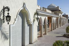 Arabian Architecture. Architectural details in arabian style stock photo