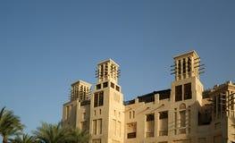 Arabian architecture of a luxurious hotel in Dubai, UAE Royalty Free Stock Photos