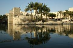 Arabian architecture of a luxurious hotel in Dubai, UAE Stock Photo