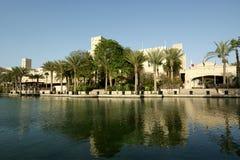 Arabian architecture of a luxurious hotel in Dubai, UAE Stock Photos