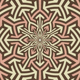 Arabian art inspired vector pattern. stock illustration