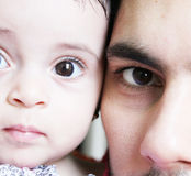 Arabian baby girl and her father Royalty Free Stock Photography