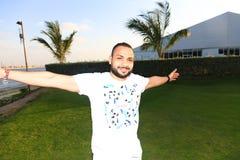 Arabian bearded man Stock Photo