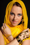 Arabian beautiful woman. Stock Image
