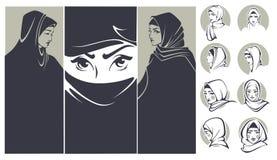 arabian beauty διανυσματική απεικόνιση