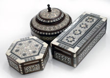 Arabian Boxes Royalty Free Stock Photos