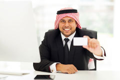 Arabian business card Stock Images