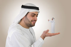 Arabian business man in a communicating business c Stock Photography