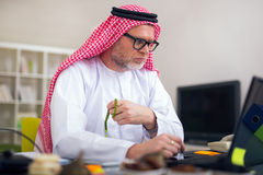 Arabian business man in his home office Stock Images