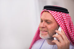 Arabian business man in his home office Stock Image