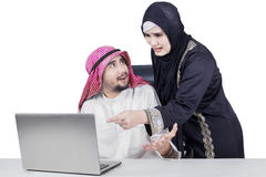 Arabian business team having problem Stock Images