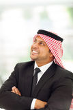 Arabian businessman daydreaming Royalty Free Stock Images