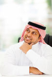 Arabian businessman daydreaming Stock Images