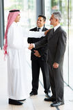 Arabian businessman greeting Royalty Free Stock Photo