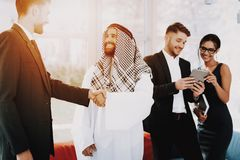 Arabian Businessman Handshake With A Manager.