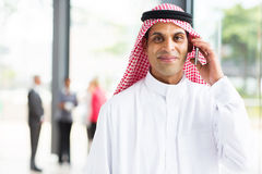 Arabian businessman phone Royalty Free Stock Photography