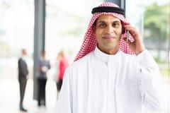 Arabian businessman phone Royalty Free Stock Photography