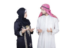 Arabian businessman talking with his partner Stock Photography