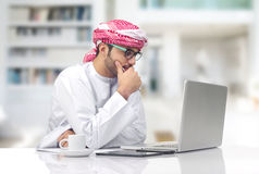 Arabian businessman working in office Royalty Free Stock Images