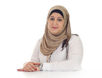Arabian businesswoman / executive in her office Royalty Free Stock Images
