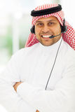 Arabian call centre Royalty Free Stock Photo