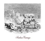 Arabian carriage, vintage illustration Royalty Free Stock Photo