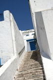 Arabian city. Sidi-bou-Said, the city of artists. Blue and white city. Tunisia Royalty Free Stock Image
