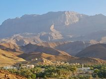 Arabian city in mountains stock photography
