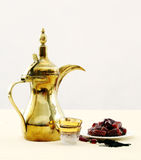Arabian coffee and dates royalty free stock images