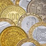 Arabian coins. Close up shot of some arabian (Syria) coins Royalty Free Stock Photos