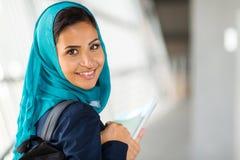 Arabian college girl. Pretty arabian college girl on campus Royalty Free Stock Photo