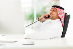 Arabian corporate worker royalty free stock photos