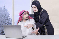 Arabian couple with angry expression Stock Image