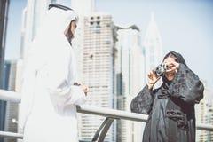 Arabian couple portrait Stock Photos