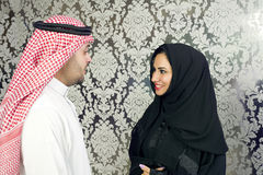 Arabian couple posing Royalty Free Stock Images