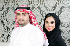 Arabian couple posing Stock Photography