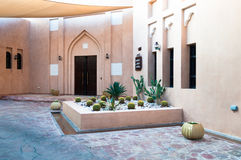 Arabian courtyard in Doha, modern contruction with vintage looks, Doha, Qatar Royalty Free Stock Photos