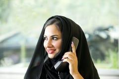 Arabian Customer service representative Stock Photo