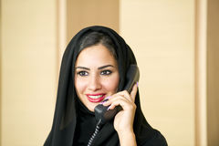 Arabian Customer service representative Stock Photography