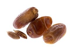 Arabian dates and seeds Stock Photo