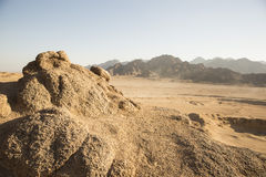 Arabian Desert in Egypt sharm el shiekh safari Royalty Free Stock Image