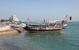 Arabian dhows in Doha, Qatar Royalty Free Stock Photos