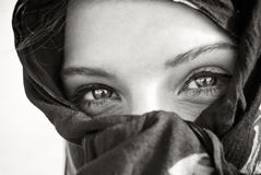 Arabian eye closeup stock photo