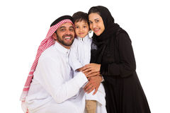 Arabian family looking Stock Photo