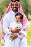 Arabian father son Stock Photo